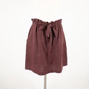 H&M Wine Tie Waist Skirt Size 8